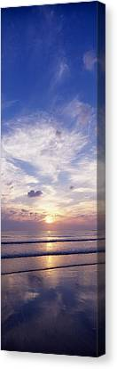 Sunsets Over The Beach, Magheraroarty Canvas Print by The Irish Image Collection