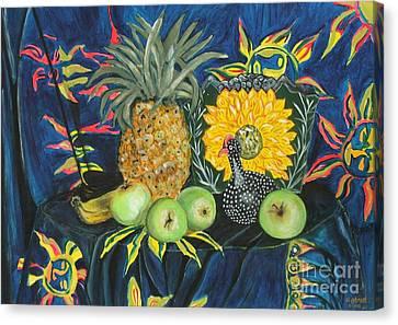 Sunshine Cloth Sunshine Pot Canvas Print by Caroline Street