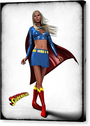 Super Girl Canvas Print by Frederico Borges