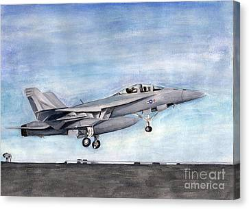 Superhornet Canvas Print by Sarah Howland-Ludwig
