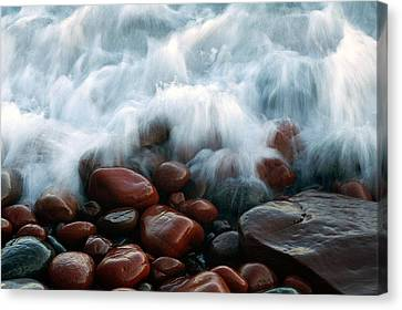 Superior On The Rocks Canvas Print by Bill Morgenstern