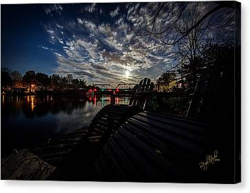 Supermoon Canvas Print by Everet Regal
