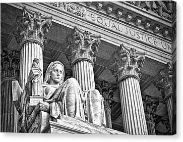 Supreme Court Building 17 Canvas Print by Val Black Russian Tourchin
