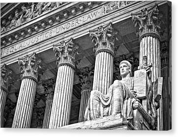 Supreme Court Building 18 Canvas Print by Val Black Russian Tourchin