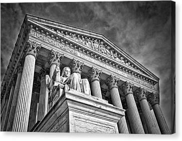 Supreme Court Building 7 Canvas Print by Val Black Russian Tourchin