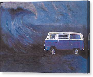surf Bus Canvas Print by Sharon Poulton