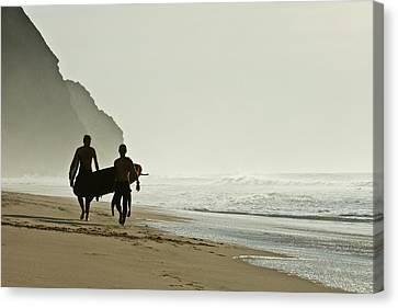 Surfers Canvas Print by Daniel Kulinski