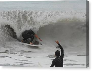 Surfing 209 Canvas Print by Joyce StJames