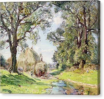 Surrey Landscape  Canvas Print by Edmund George Warren