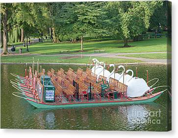 Swan Boat In Boston Public Garden Canvas Print by Clarence Holmes