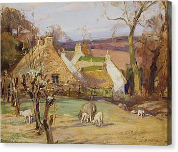 Swanston Farm Canvas Print by Robert Hope