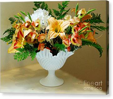 Sweet Bouquet Canvas Print by Diana  Tyson