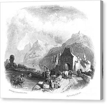 Switzerland: Villeneuve Canvas Print by Granger