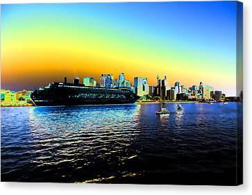 Sydney In Color Canvas Print by Douglas Barnard