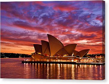 Sydney Operahouse Canvas Print by Preston Coe