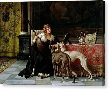 Sympathetic Friends Canvas Print by Florent Willems