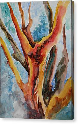 Symphony Of Branches Canvas Print by Mary Wykes