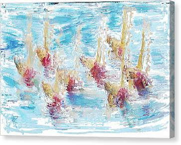 Sync Or Swim Canvas Print by Russell Pierce