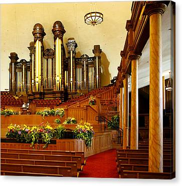 Tabernacle Pipe Organ Canvas Print by Marilyn Hunt