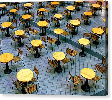 Tables And Chairs II Canvas Print by Steven Ainsworth