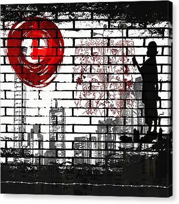 Tag Canvas Print by Angelina Vick