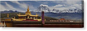 Tagong Si Monastery Buddhist Temple Canvas Print by Phil Borges