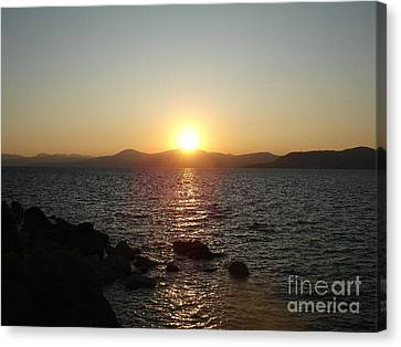 Tahoe Sunset Canvas Print by Silvie Kendall