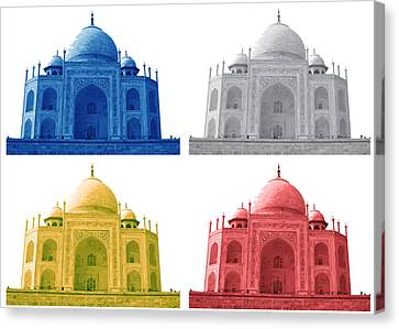Taj Mahal Colorful Style Canvas Print by Atthamee Ni