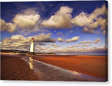 Talacre Lighthouse Canvas Print by Mal Bray