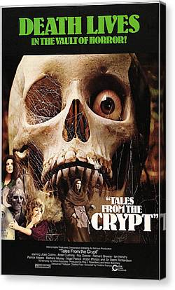 Tales From The Crypt, On Left From Top Canvas Print by Everett