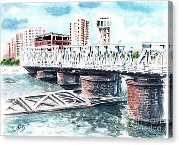 Talkha Bridge Canvas Print by Muna Abdurrahman