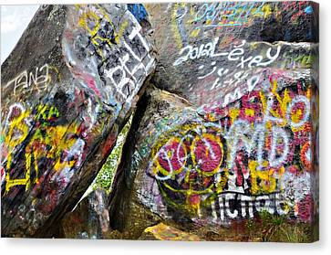 Talking Rocks Close Canvas Print by Susan Leggett