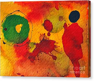 Talking To Myself Canvas Print by Ana Maria Edulescu