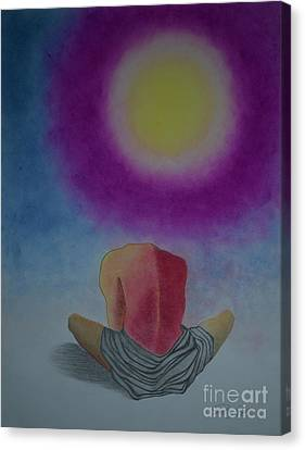 Talking With Sun Canvas Print by Jalal Gilani