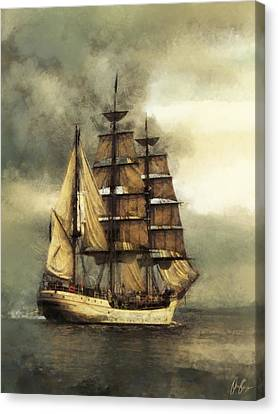 Tall Ship Canvas Print by Marcin and Dawid Witukiewicz