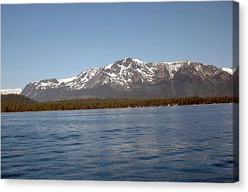 Tallac From The Lake Canvas Print by LeeAnn McLaneGoetz McLaneGoetzStudioLLCcom