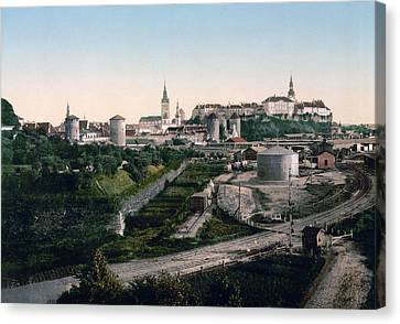 Tallinn Estonia - Formerly Reval Russia Ca 1900 Canvas Print by International  Images
