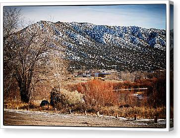 Taos Mountain View 1 Canvas Print by Lisa  Spencer