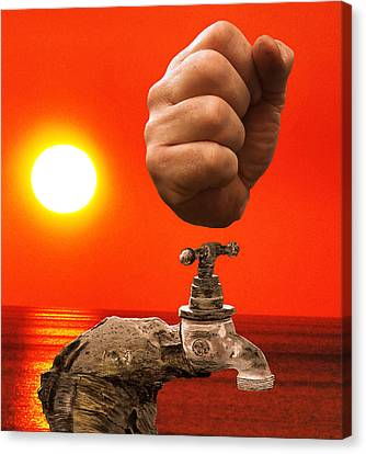 Tap Out Canvas Print by Eric Kempson