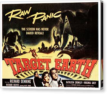 Target Earth, Bottom Center Kathleen Canvas Print by Everett