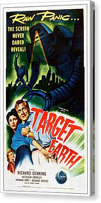 Target Earth,  From Left Kathleen Canvas Print by Everett