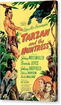Tarzan And The Huntress, Patricia Canvas Print by Everett