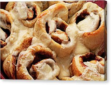 Taste Of Home Cinnamon Rolls Canvas Print by Andee Design