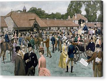 Tattersall's Newmarket Pub Canvas Print by Isaac J Cullin and I P Mendoza