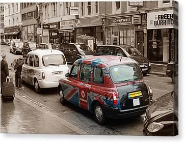 Taxi London  Canvas Print by Stefan Kuhn