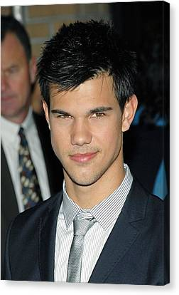 Taylor Lautner  At Arrivals For Special Canvas Print by Everett