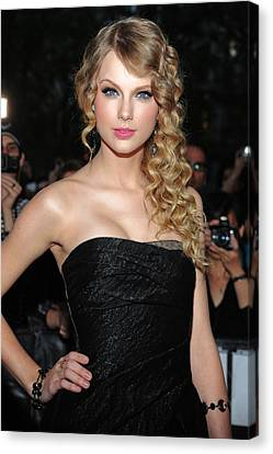 Taylor Swift At Arrivals For Time 100 Canvas Print by Everett