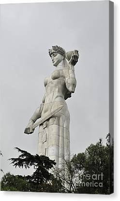 Tbilisi Mother Of Georgia Statue Canvas Print by Amos Gal