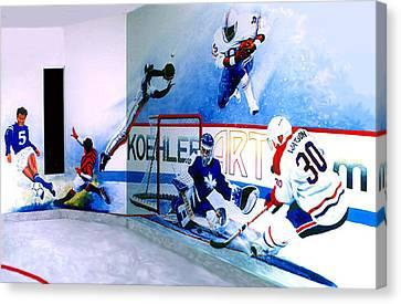 Team Sports Mural Canvas Print by Hanne Lore Koehler