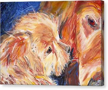 Teddy And Friend Canvas Print by Arthur Rice